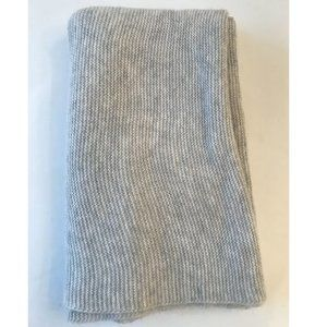 Grey Ribbed Infinity Scarf